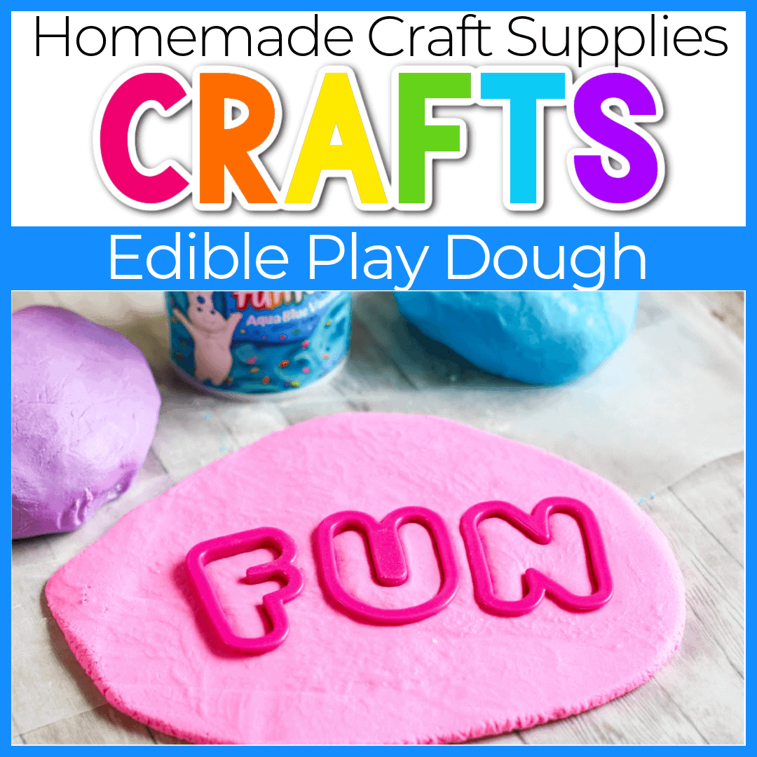 Easy, Homemade Edible Playdough with 2-Ingredients