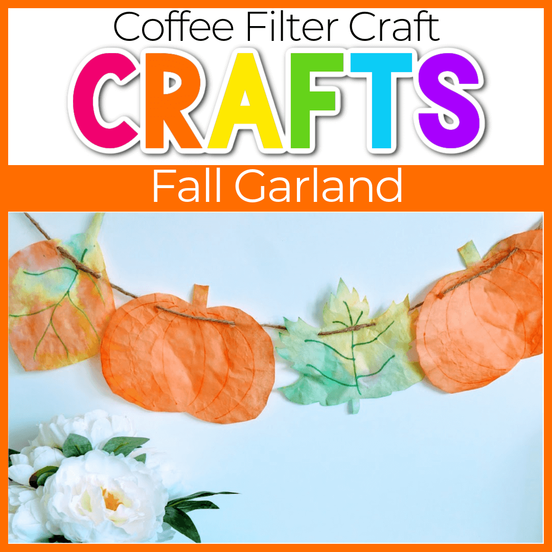 Fall Coffee Filter Crafts for Preschoolers