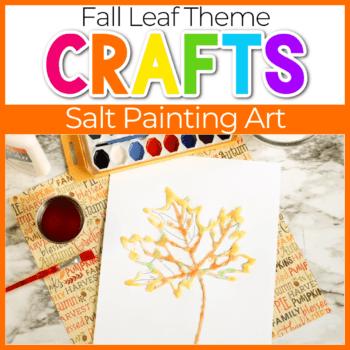 Fall Leaf Salt Painting Featured