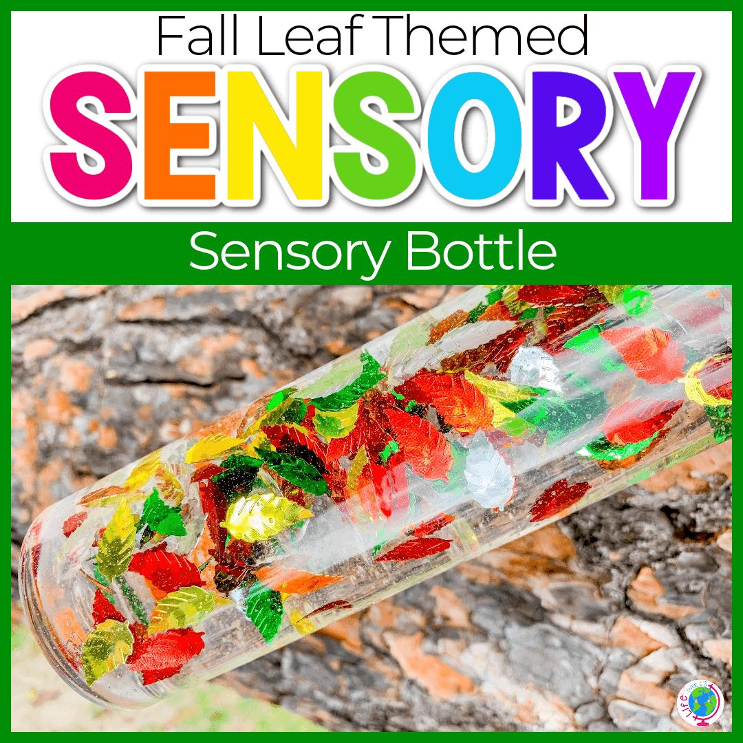 Homemade Fall Sensory Bottles for Preschool