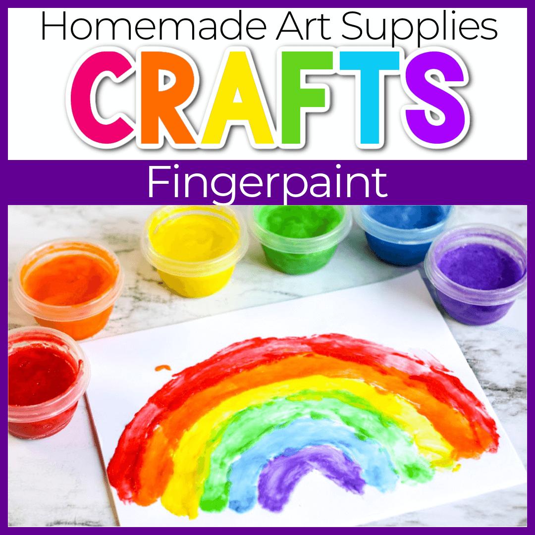 Homemade Finger Paint Recipe.