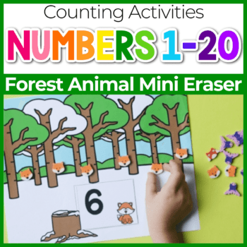 forest animal mini eraser counting mats Featured Image