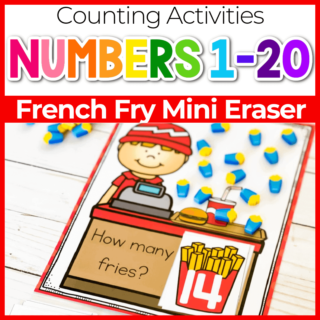 Preschool Restaurant Theme Printable Counting Mats