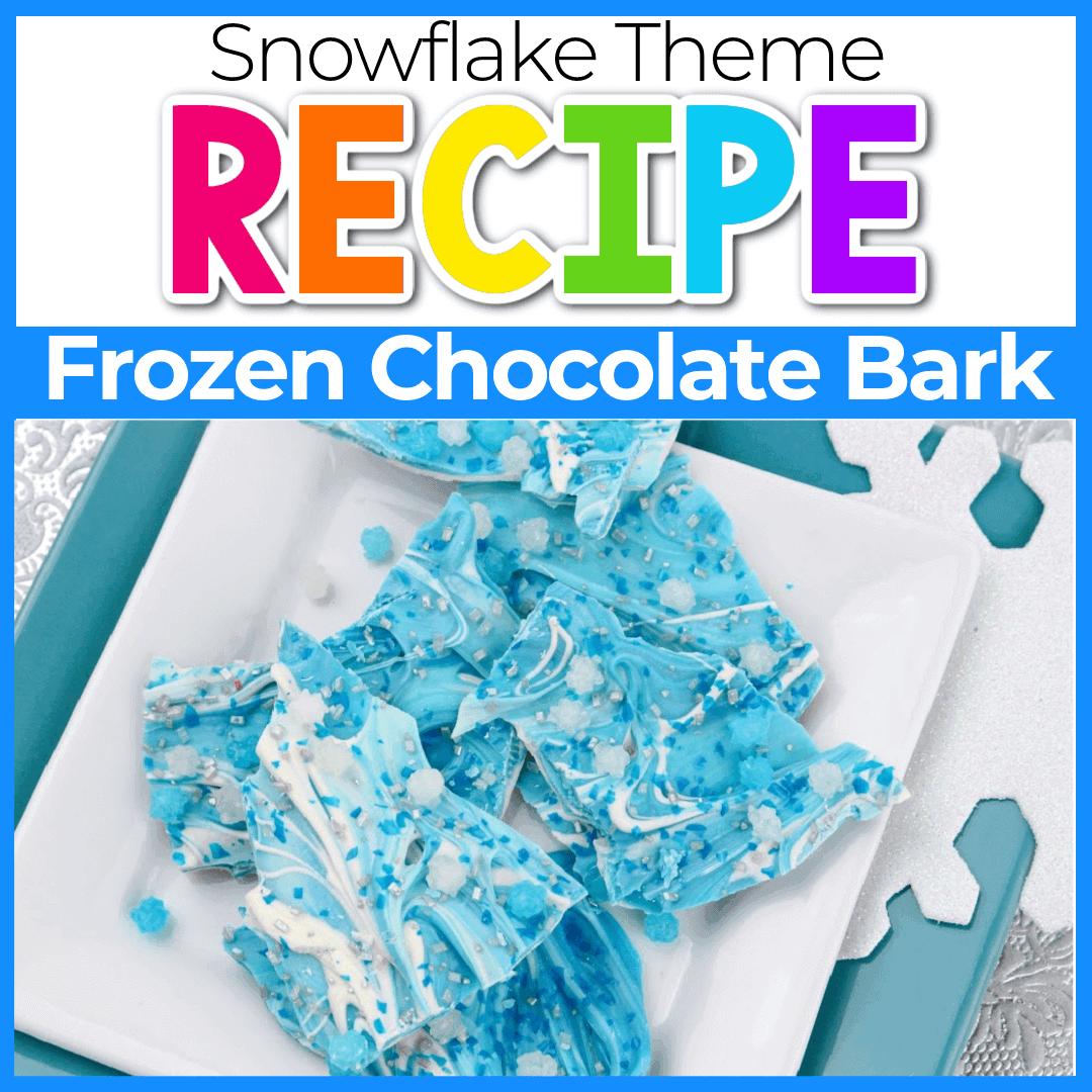 Frozen Themed Chocolate Bark