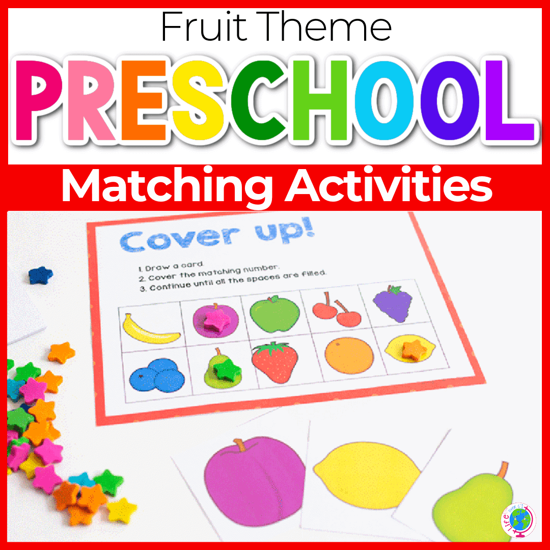 3 Free Printable Fruit Matching Games