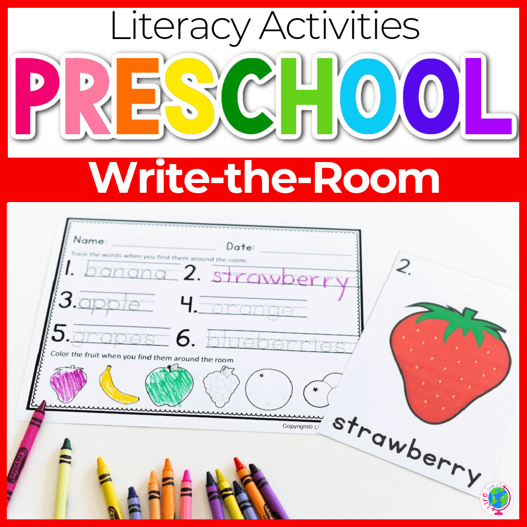 Fruit Theme Writing Activity for Preschoolers