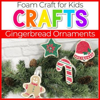 foam gingerbread Christmas tree ornaments