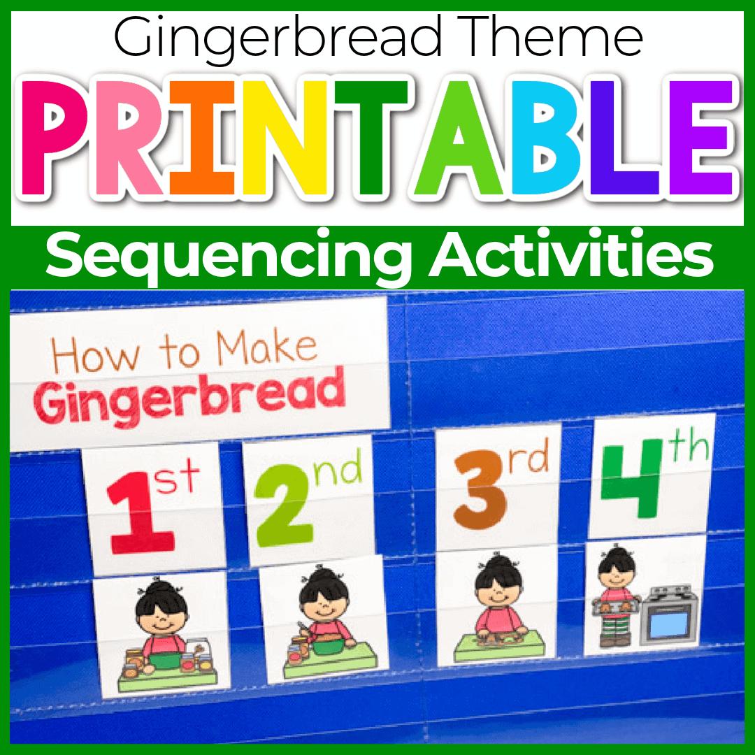 Free Printable Gingerbread Preschool Sequencing Activities