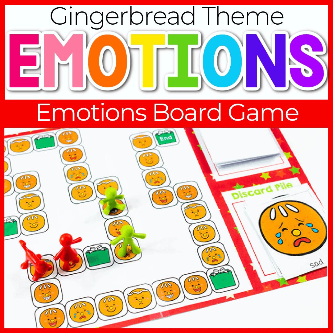 Printable Gingerbread Emotions Board Game