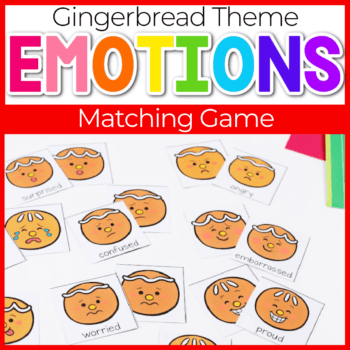 gingerbread theme emotions memory game for preschoolers featured image