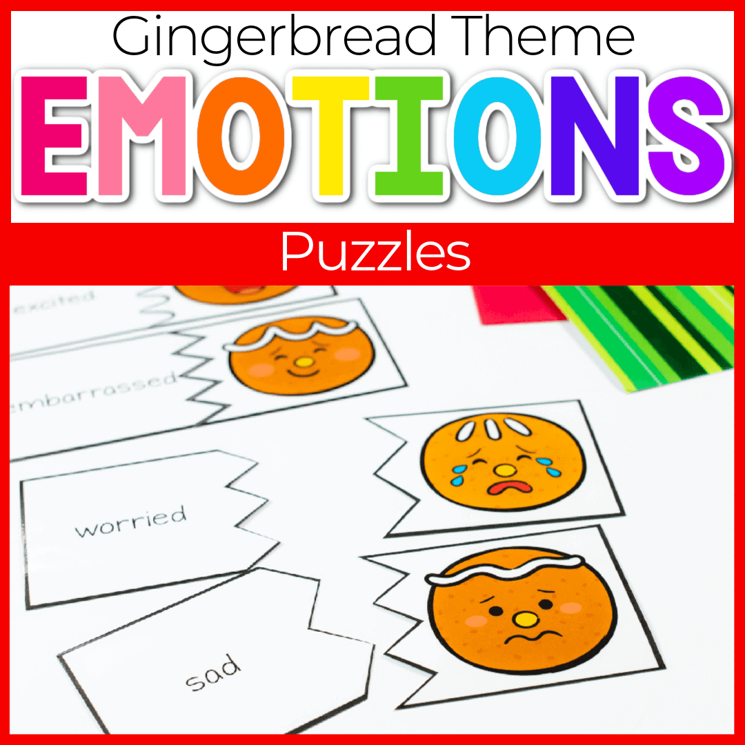 Gingerbread Emotions Puzzle Activity