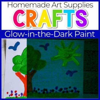 Glow in the dark paint recipe.