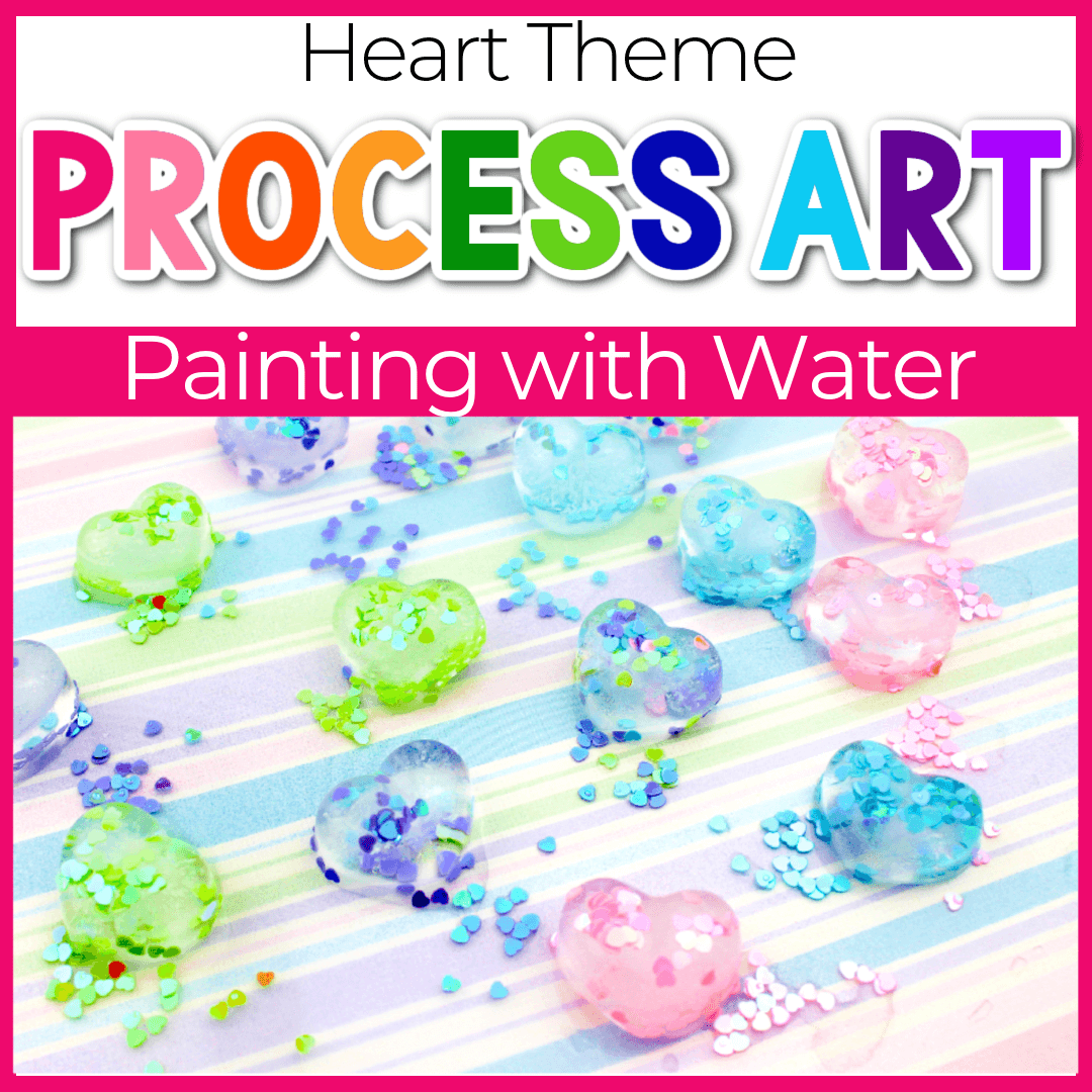 Glitter Heart Ice Cube Painting for Preschoolers