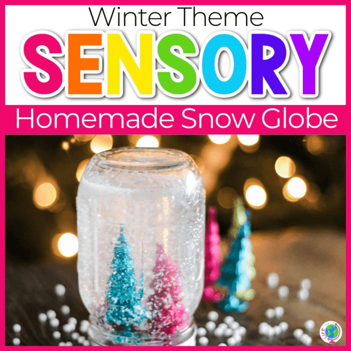 DIY Winter Snow Globe Craft for Kids Featured Image