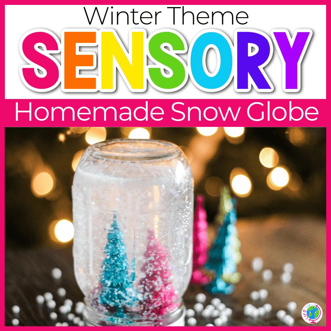 DIY Winter Snow Globe Craft for Kids