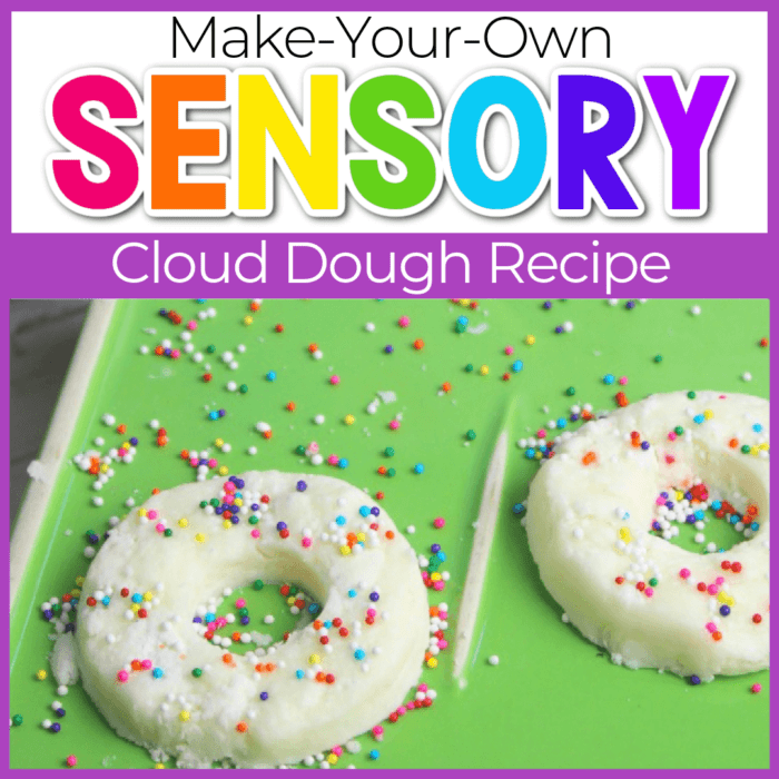 If You Give a Dog a Donut book preschool lesson plan and sensory activity