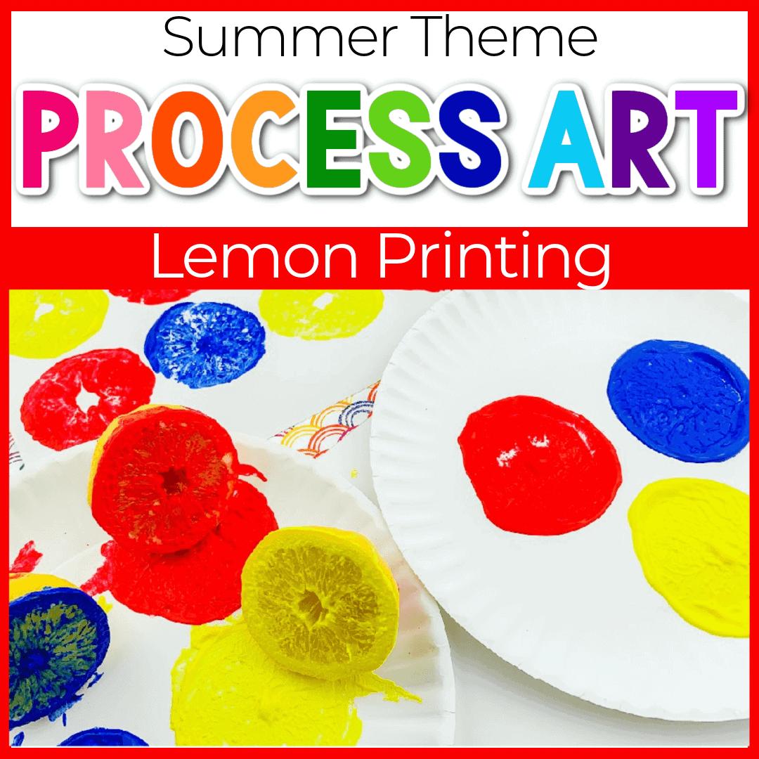 Lemon Painting with Preschoolers