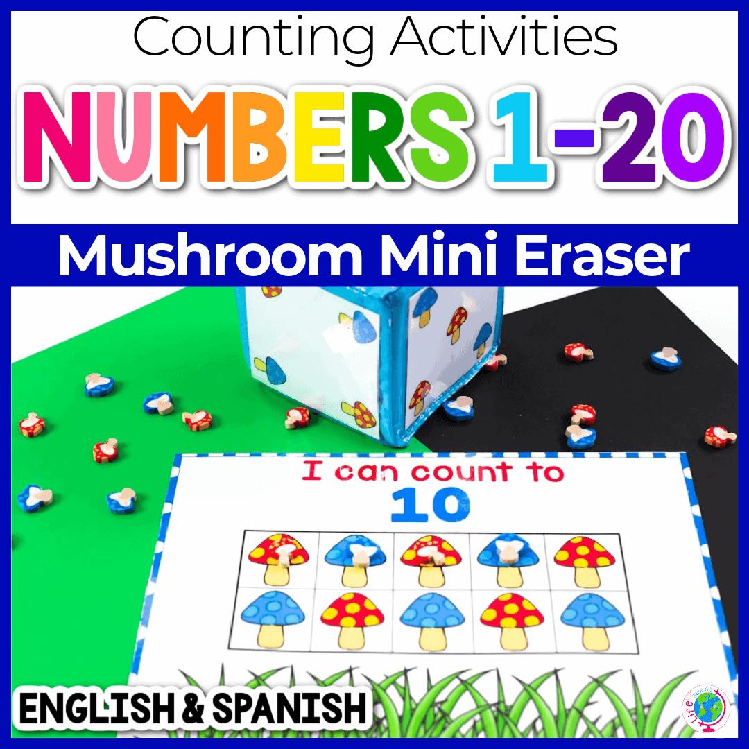 Free Printable Mushroom Counting Grids For Preschool