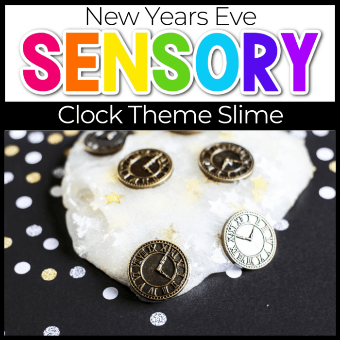 New Year's Eve clock theme slime for kids Featured Image