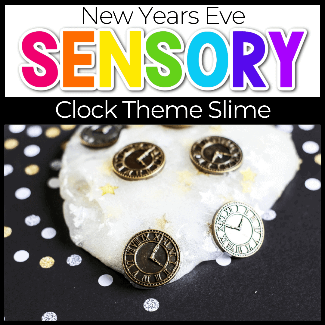Easy New Years Eve Slime for Kids