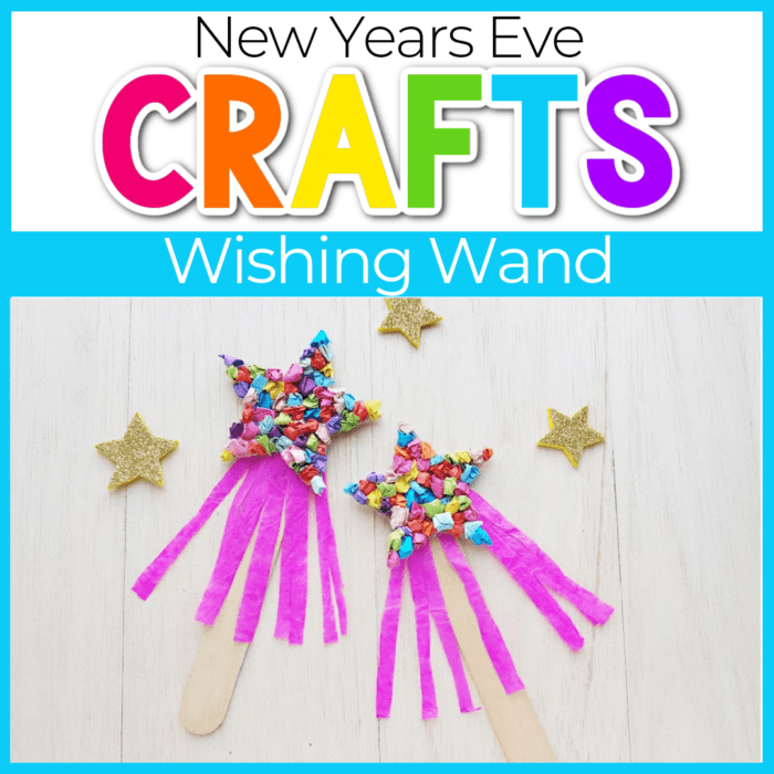 This New Years Eve craft wishing wand for kids is a fun way to ring in the new year with your preschooler!