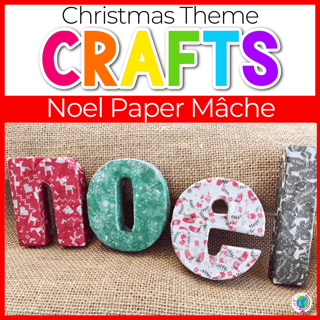 Simple Paper Mache Christmas Craft for Kids