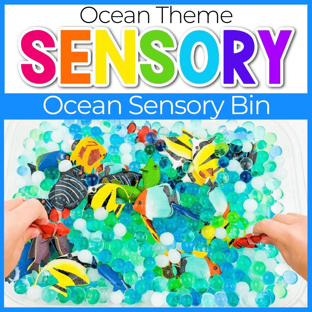 Fish in the Ocean Sensory Bin for Preschoolers
