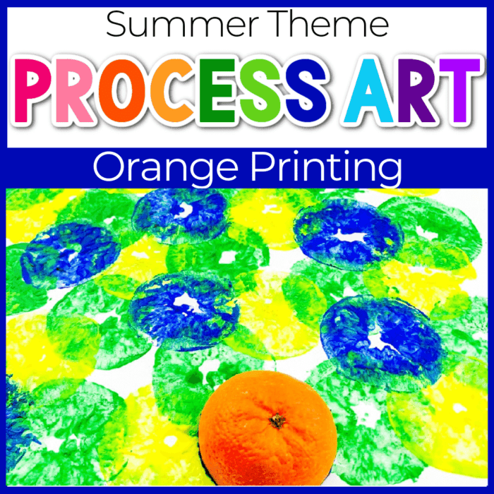 DIY Orange Painting Activity
