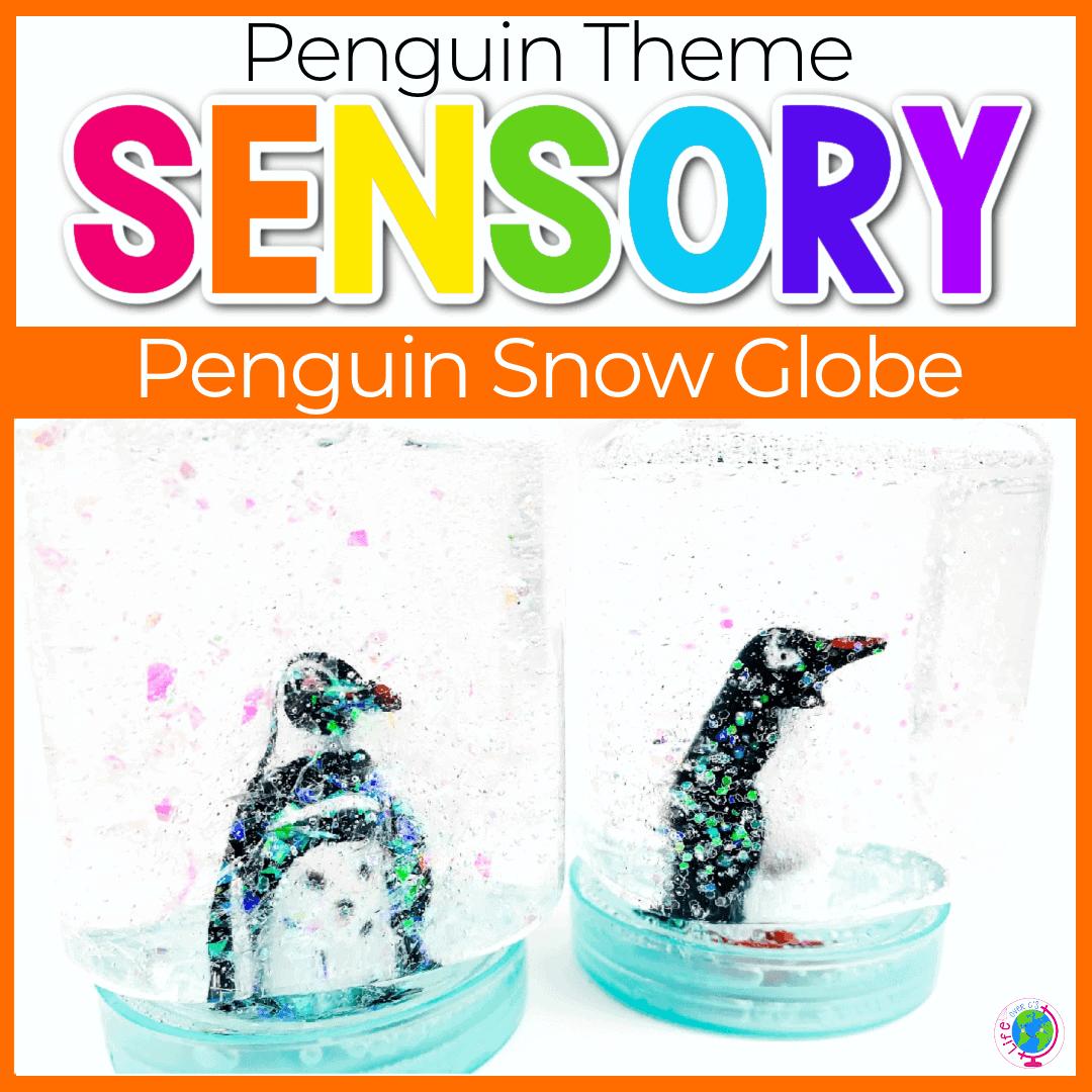 Easy Sensory Bottle Penguin Activities for Preschoolers