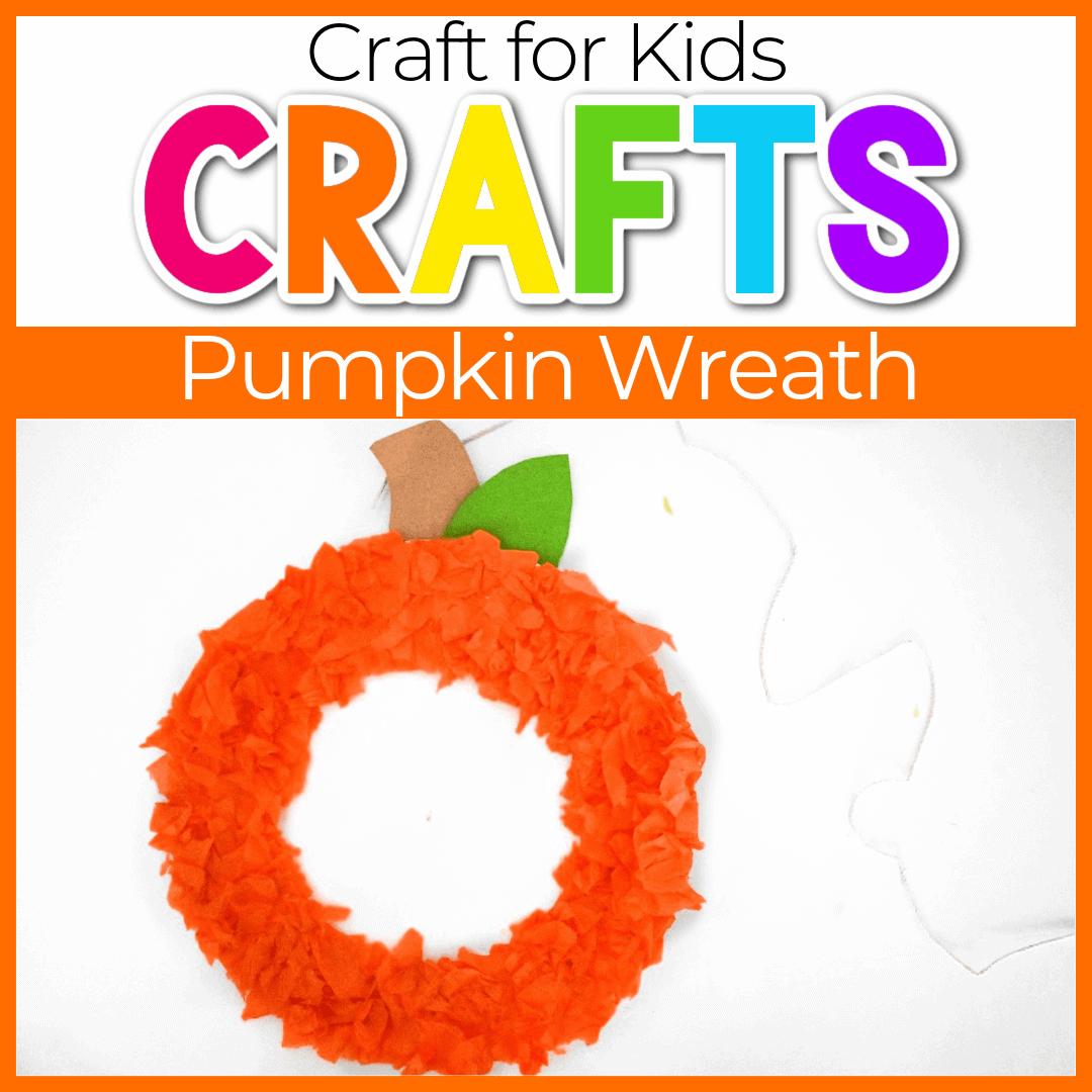 DIY Fall Pumpkin Wreath Crafts for Preschoolers