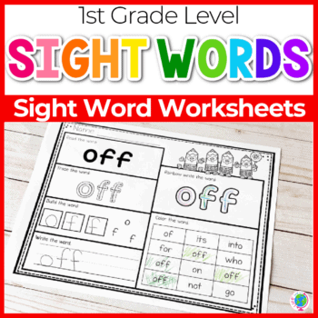 sight words 1st grade level worksheets sq featured image