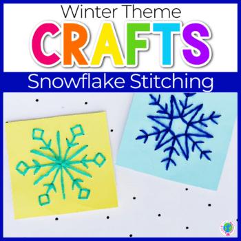 Snowflake Stitching Fine Motor Craft Featured Image