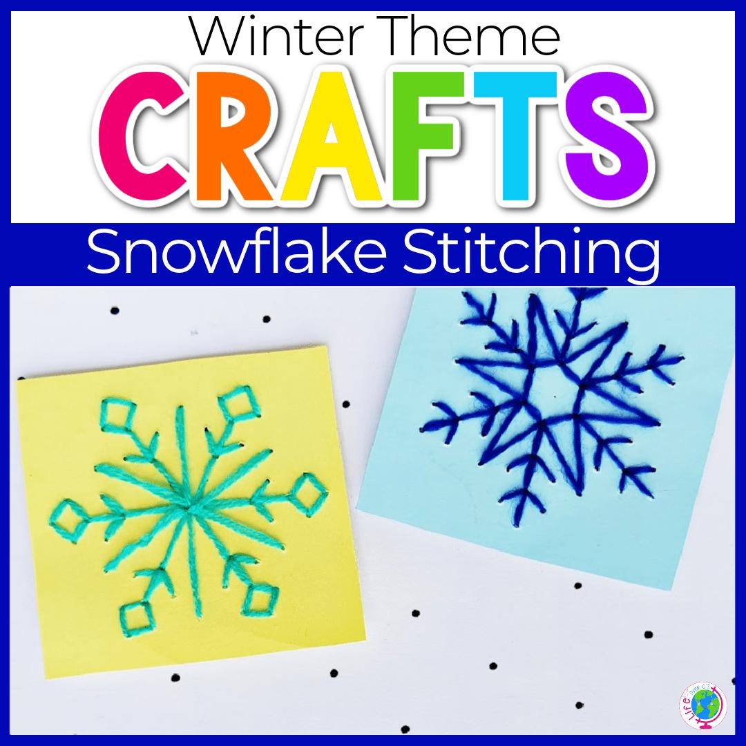 Snowflake Stitching Fine Motor Craft for Kids