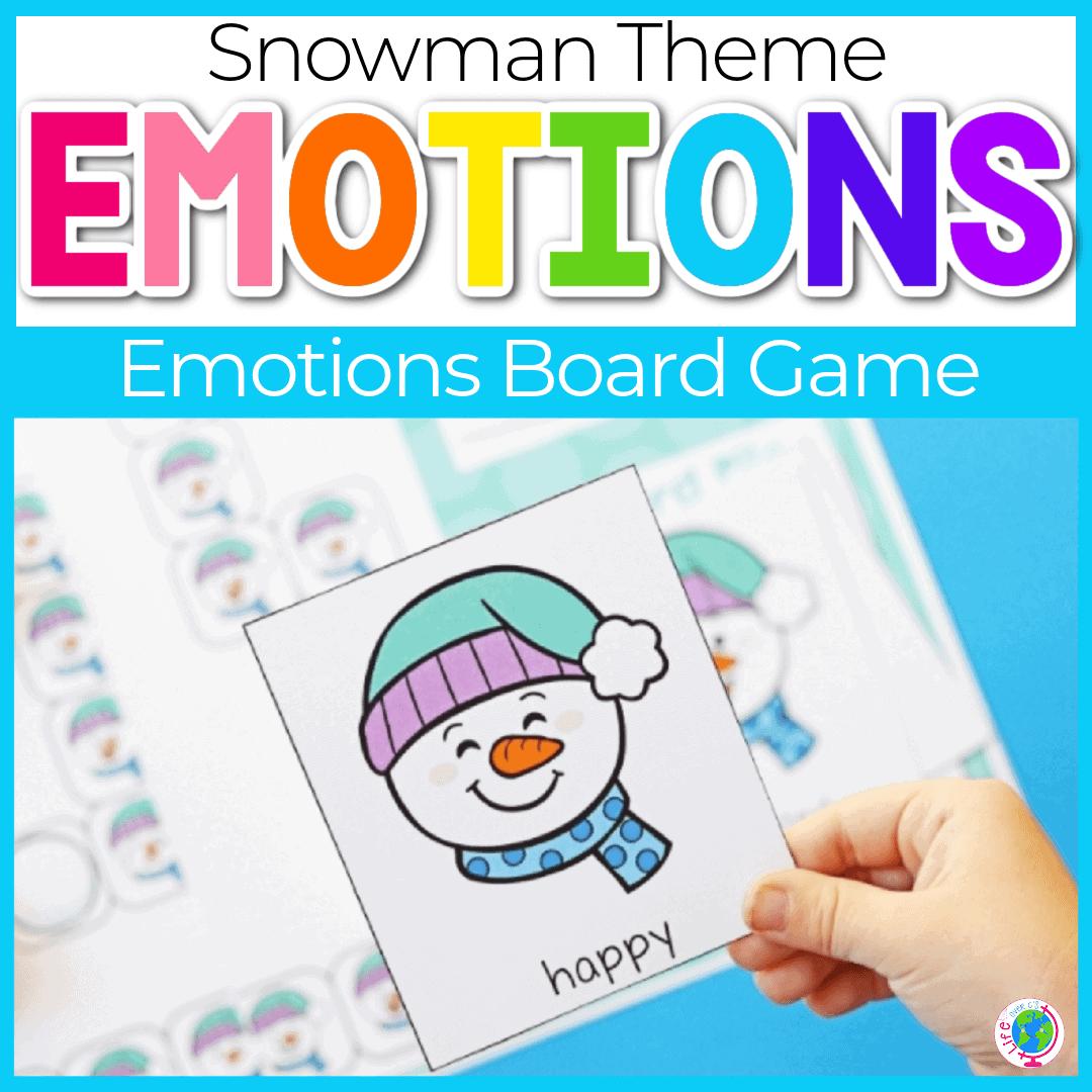 Snowman Theme Social Emotional Activities for Preschoolers