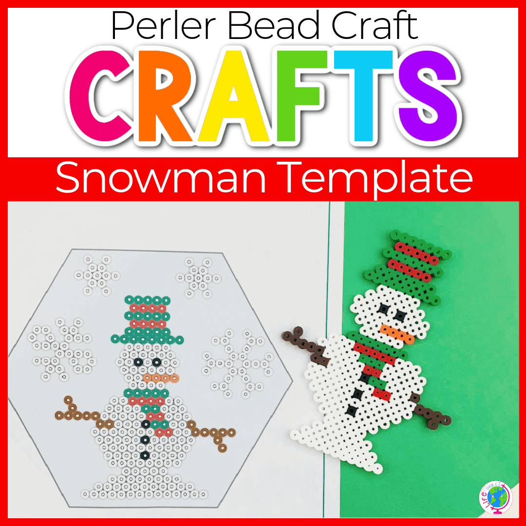 Free Snowman Perler Beads Patterns for Kids
