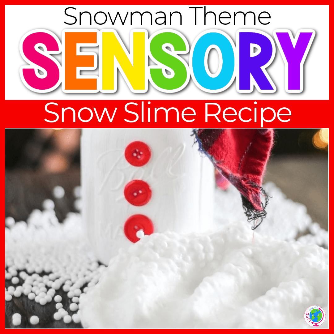 Easy Snow Slime Recipe for Kids
