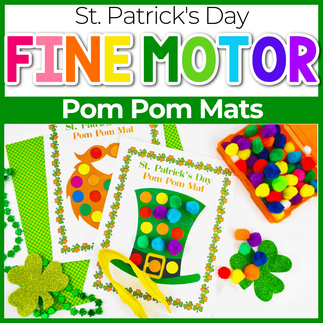 St. Patrick's Day Fine Motor Color Matching  Printables