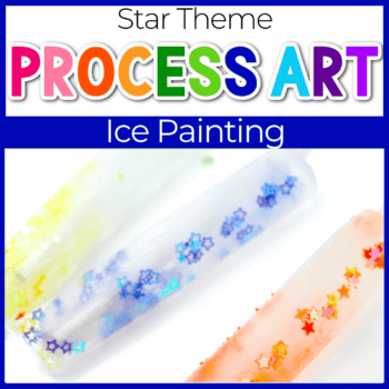 star ice painting activity for preschoolers