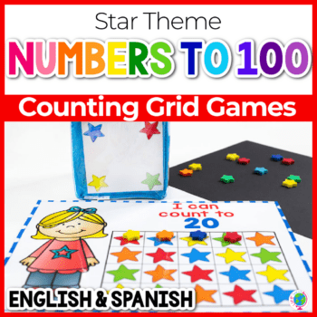 Free printable star mini eraser counting activity for preschool math activities