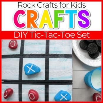 Homemade Tic Tac Toe game using rocks.