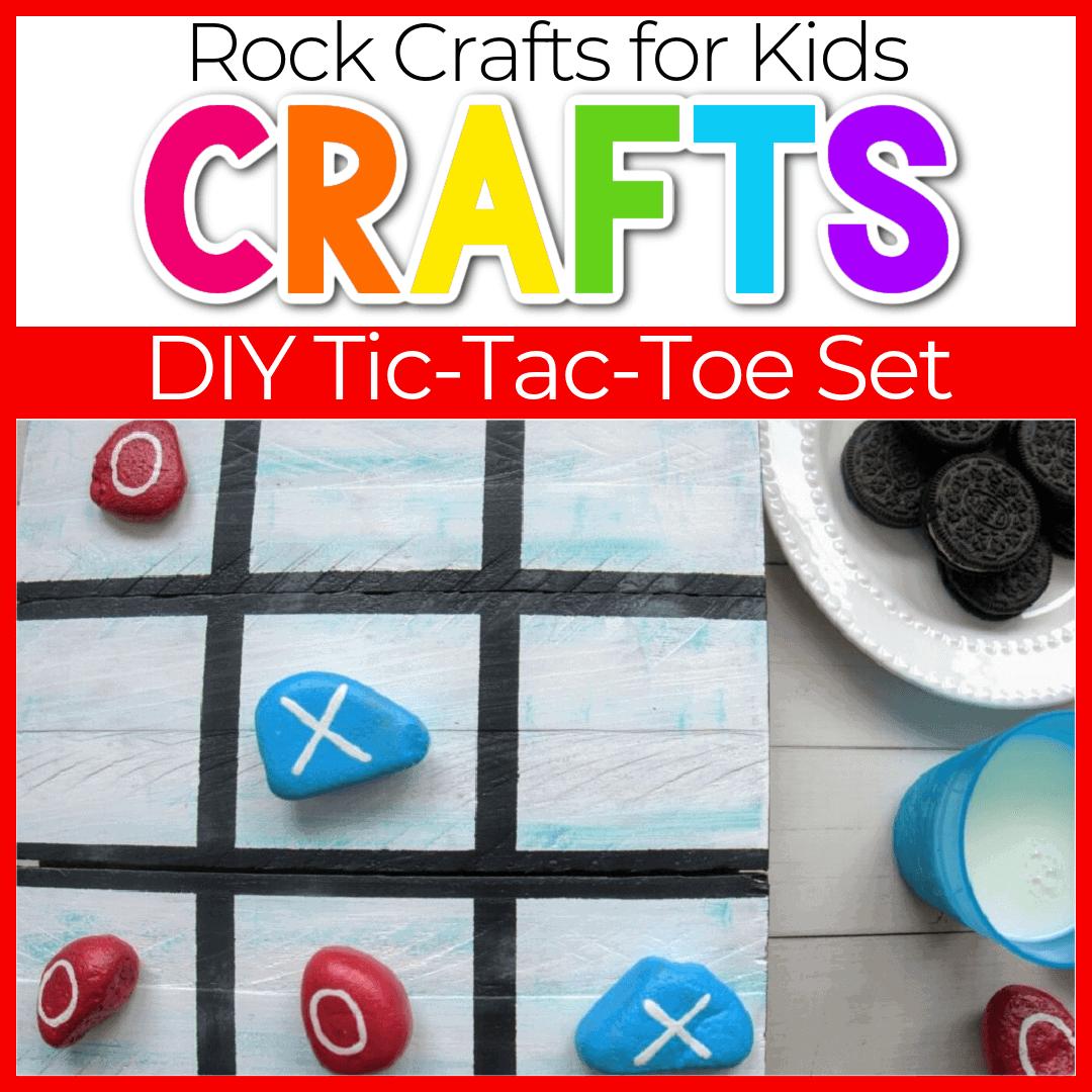DIY Kids' Rock Tic-Tac-Toe Game