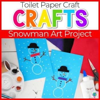Easy DIY Snowman Crafts for Kindergarten and Preschool featured image.