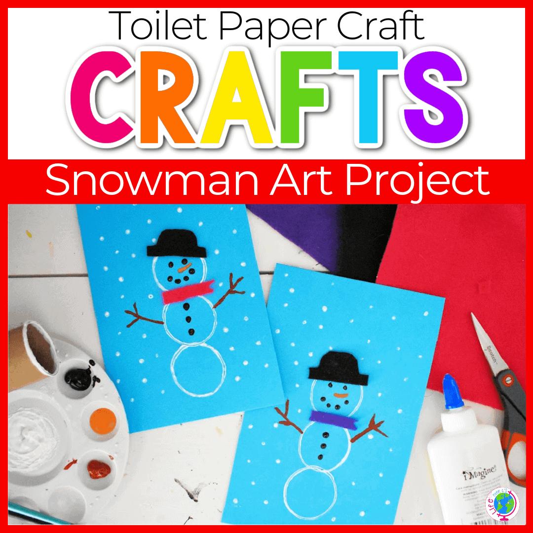 Easy DIY Snowman Crafts for Kindergarten and Preschool