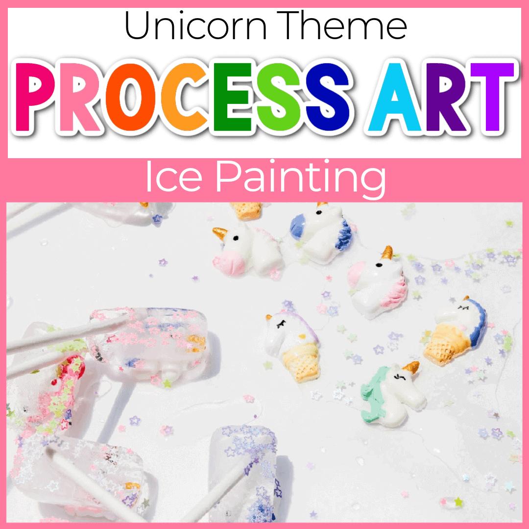 Unicorn Ice Cube Painting Summer Art for Kids