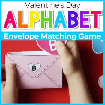 Preschool Valentines Alphabet Matching Games Featured Image