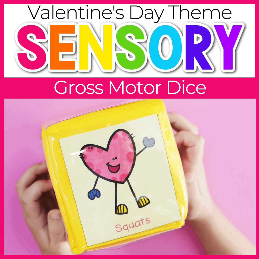 Valentine's Theme Gross Motor Exercises for Preschoolers