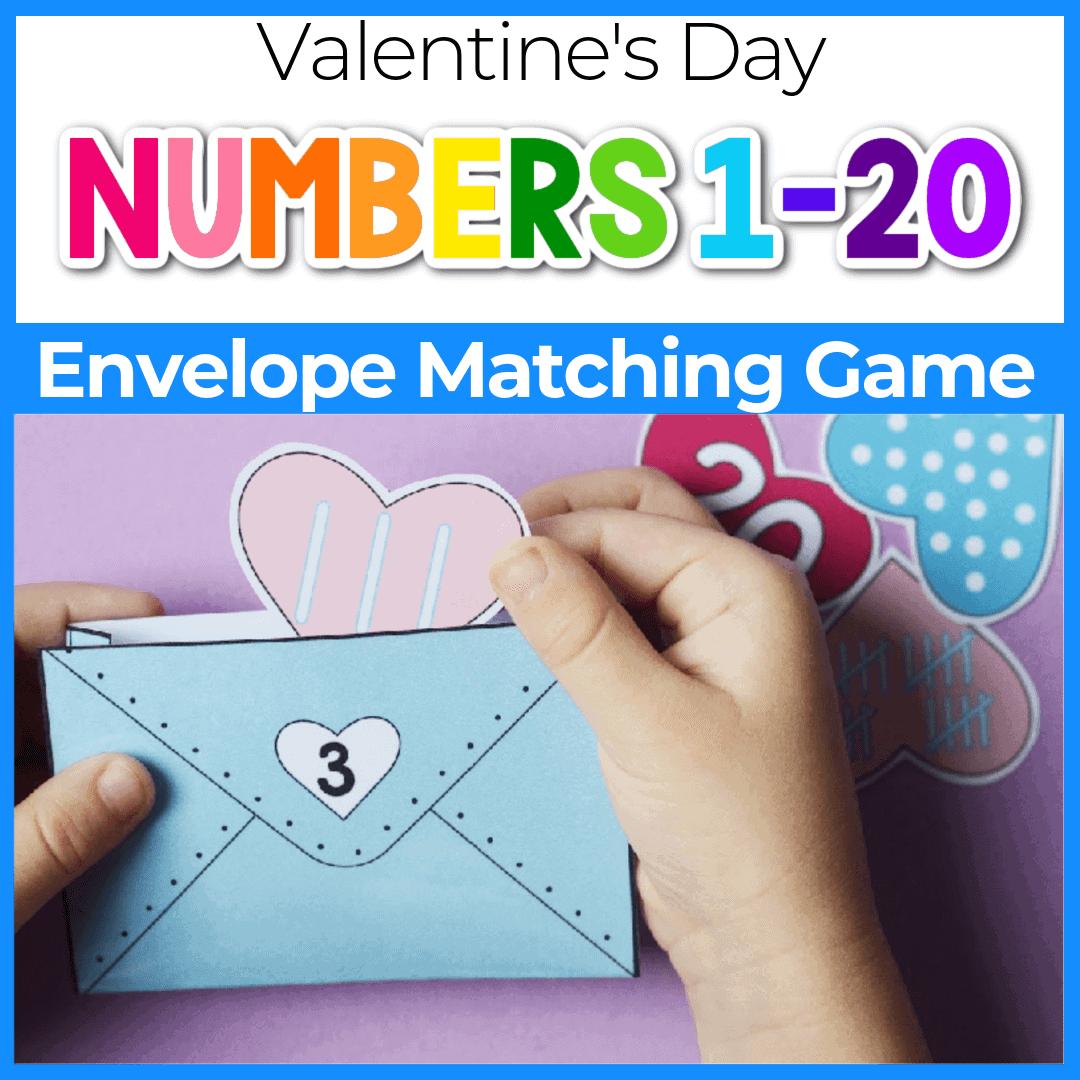 Valentine's Printable Number Activities for Preschoolers