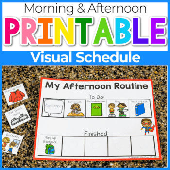 My Morning Routine free printable for kids Featured Image