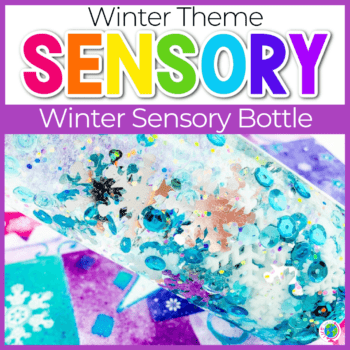 Winter Sensory Bottles for Preschoolers and Toddlers square featured image.