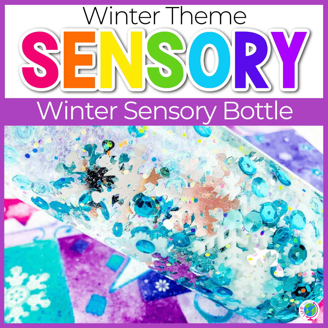 Winter Sensory Bottles for Preschoolers and Toddlers